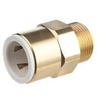 "Flomasta SBMC6745M Brass Push-Fit Adapting Male Pipe Fitting Adaptor 22mm x ¾"""