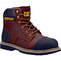 CAT Powerplant S3   Safety Boots Brown Size 8
