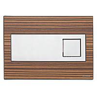 Fluidmaster Schwab Caro 256718 Dual-Flush Flushing Plate Zebrano Wood Effect