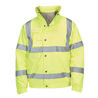 "Hi-Vis Bomber Jacket Yellow Large 52"" Chest"