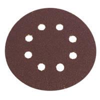 Flexovit Sanding Discs Punched 115mm 50 Grit 6 Pack