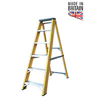 Lyte  Aluminium & Fibreglass 6-Treads Swingback Stepladder 1.21m