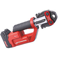 Rothenberger Romax Compact TT 18V 2.0Ah Li-Ion CAS Brushless Cordless Press Machine & SV Profile Jaw Set