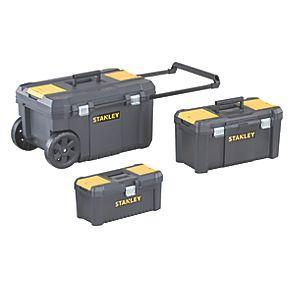 stanley tool chest bundle plastic toolboxes. Black Bedroom Furniture Sets. Home Design Ideas
