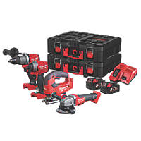 Milwaukee M18FPP4K2-502P FUEL 18V 5.0Ah Li-Ion RedLithium Brushless Cordless 4 Piece Kit