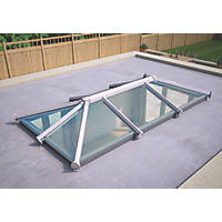 ATT Fabrications Ltd Clear Glass Roof Lantern White 3000 x 1500mm