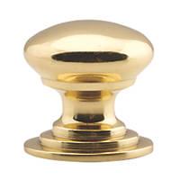 Carlisle Brass Victorian Cupboard Knob Polished Brass 50mm