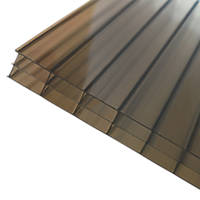Axiome Triplewall Polycarbonate Sheet Bronze 690 x 16 x 2500mm