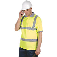 "Dickies SA22075 Hi-Vis Safety Polo Shirt Yellow X Large 48-50"" Chest"