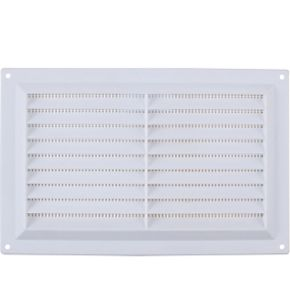 9 x 6 LAZER ELECTRICS White Plastic Adjustable Air Ventilator Vent Cover Integral Flyscreen 4 Sizes