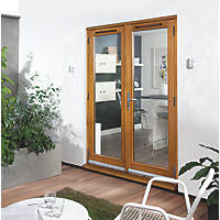 Jeld-Wen Canberra Stained Golden Oak Wooden French Door Set 2094 x 1494mm