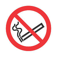 No Smoking Symbol Sign 100 x 100mm