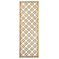 Forest  Softwood Rectangular Double-Slatted Trellis 2 x 6' 4 Pack