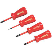 C.K  Mixed Stubby VDE Screwdriver Set 4 Pieces