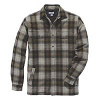 """Carhartt Hubbard Sherpa-Lined Shirt Olive 18.75"""" 56"""" Chest"""
