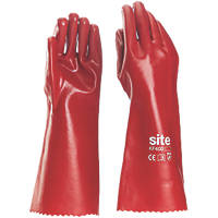 "Site KF400 PVC 16"" Gauntlets Red Large"
