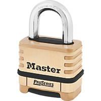Master Lock  Brass Weatherproof  Combination  Padlock 58mm