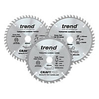 Trend TCT Circular Saw Blades 160 x 20mm 24, 48 & 48T 3 Pack