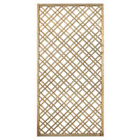 Forest  Softwood Rectangular Double-Slatted Trellis 3 x 6' 3 Pack
