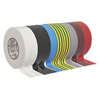 3M Temflex Insulation Tape Multipack  Mixed 19mm x 25m 10 Pieces