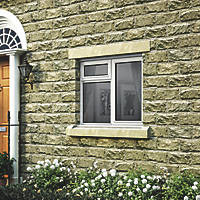 Jeld-Wen Stormsure Right-Hand Opening Double-Glazed Casement White Painted Timber Window 910 x 895mm