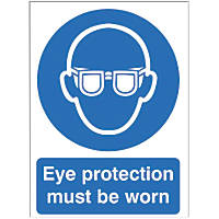 """""""Eye Protection Must Be Worn"""" Sign 210 x 148mm"""