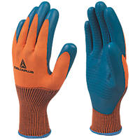 Delta Plus VE733 Supreme Grip General Handling Gloves Orange / Blue Large