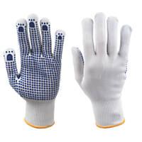 Keep Safe Polka Dot Picking Gloves White/Blue Large