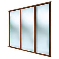 Spacepro Shaker 3 Door Framed Sliding Wardrobe Mirror Doors Mirror 2592 x 2260mm
