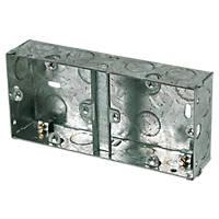 Appleby  1 + 1-Gang Galvanised Steel Knockout Box 35mm