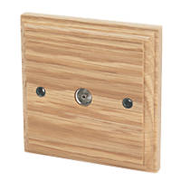 Varilight  Coaxial TV Socket Classic Oak
