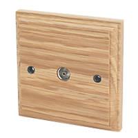 Varilight  Coaxial TV Socket Classic Oak