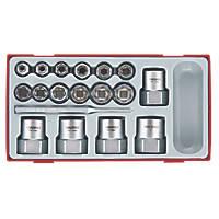"Teng Tools 3/8-½"" Stud Extractor Set  18 Pieces"