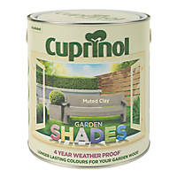 Cuprinol Garden Shades Exterior Wood Paint Matt Muted Clay 2.5Ltr
