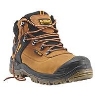 DeWalt Phoenix Waterproof Safety Boots Tan Size 8