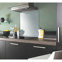 Impact Glass Silver Metallic Self-Adhesive Toughened Glass Splashback 600 x 750 x 6mm