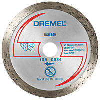 "Dremel DSM540 Tile Compact Saw Cutting Wheel 3"" (77mm) x 2 x 11.1mm"