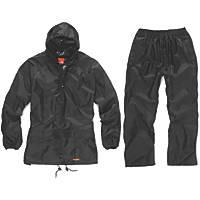 "Scruffs T54560 Waterproof Suit Black X Large 46"" Chest"