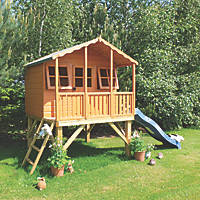 Shire Stork Playhouse with Slide 5'10 x 5'10""