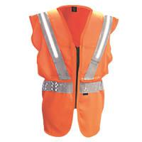"""Fhoss  Illuminated Hi-Vis Vest Orange Large / X Large 46-50"""" Chest"""