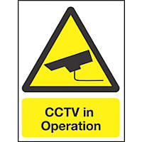"""CCTV In Operation"" Sign 210 x 148mm"