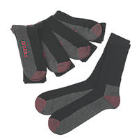 Dickies  Cushion Crew Socks Black Size 7-11 5 Pack