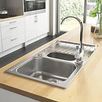 Astracast Alto Kitchen Sink 18 / 10 Stainless Steel 1.5 Bowl 980 x 510mm