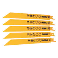DeWalt DT2353-QZ Reciprocating Saw Blade 203mm 5 Pack