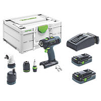Festool T18+3 18V 4.0Ah Li-Ion Airstream Brushless Cordless Drill Driver