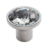 Carlisle Brass Crystal Round Furniture Knob Polished Chrome 34mm