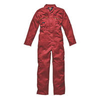 "Dickies Redhawk Zip Front Coverall Red Large 44"" Chest 30"" L"