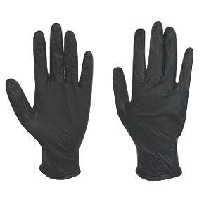 Juba Grippaz Nitrile Powder Free Disposable Gloves Black