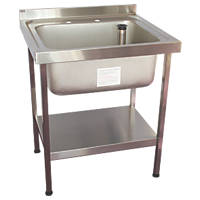 Franke Midi Catering Sink Stainless Steel 1 Bowl 750 x 650mm