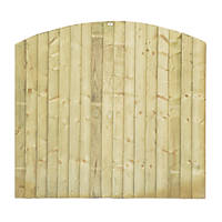 Grange Dome Feather Edge Fence Panels 1.8 x 1.7m 6 Pack